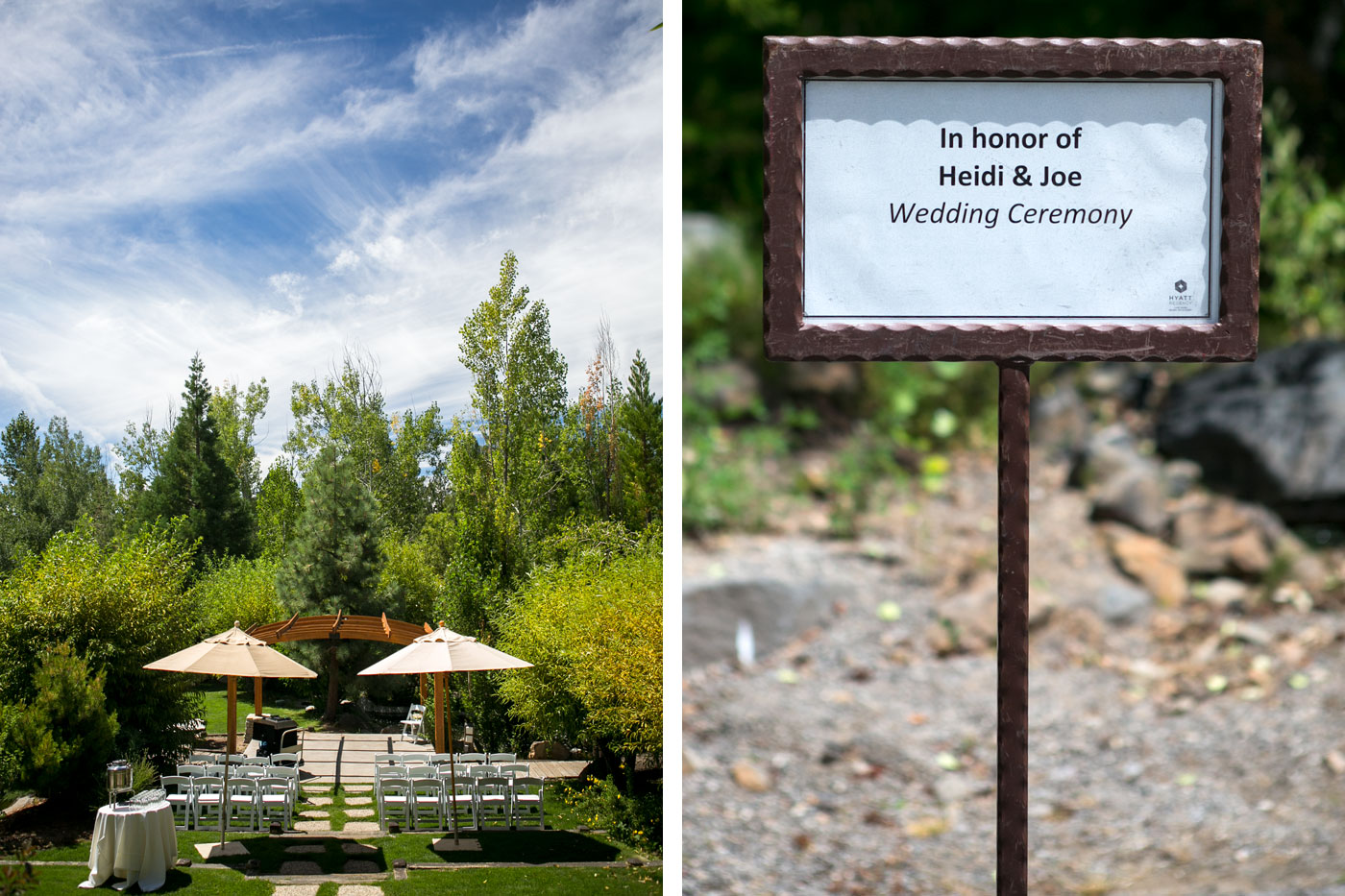 Hyatt Lake Tahoe Weddings Water Garden 1